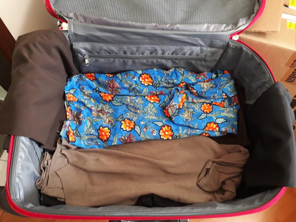 montando a mala